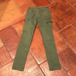 Justice Army green jeans